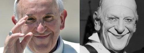 A gauche, clown blanc d'aujourd'hui, gravement nuisible. A droite, auguste d'il y a 70 ans, drôle et sympa.