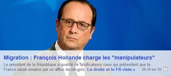 Hollande sur les manipulateurs